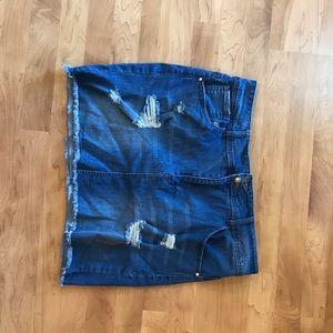 Dresses & Skirts - Blue Jean Distressed skirt